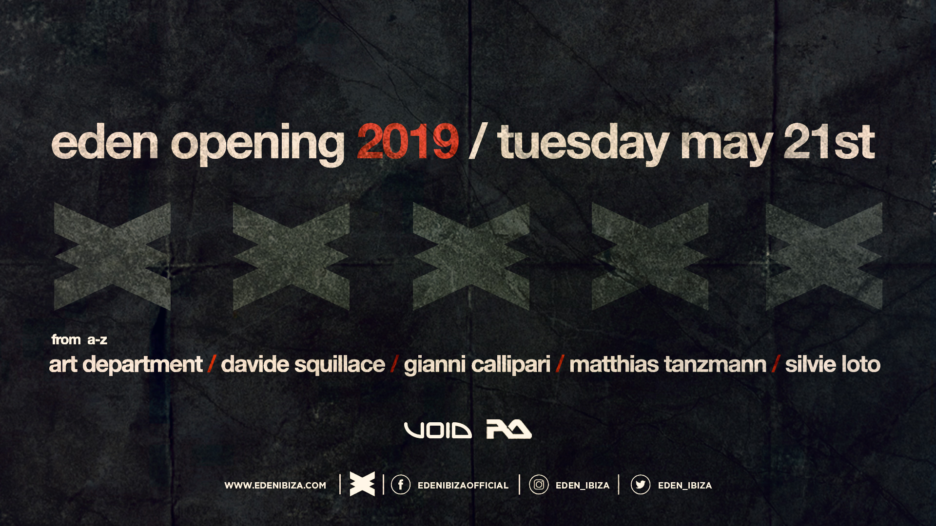 Image result for eden opening 2019